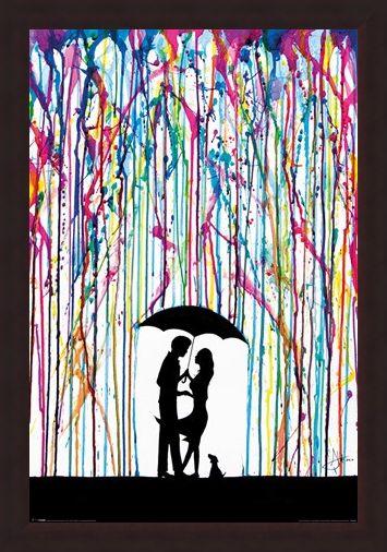 Framed Framed Raining Colour - Marc Allante