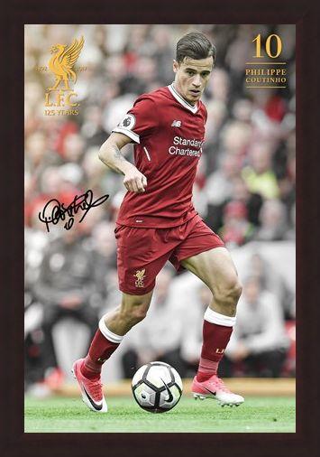Framed Framed Coutinho 17-18 - Liverpool FC