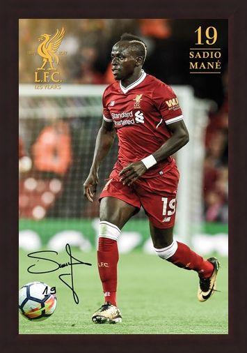 Framed Framed Liverpool Mane 17-18 -