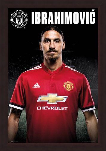 Framed Framed Zlatan Stand 17-18 - Manchester United