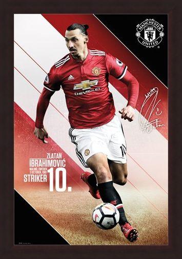 Framed Framed Ibrahimovic 17-18 - Manchester United
