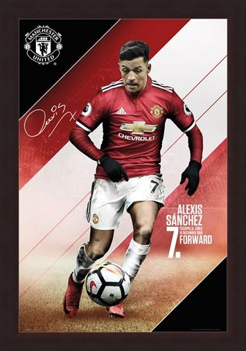 Framed Framed Sanchez 17-18 - Manchester United