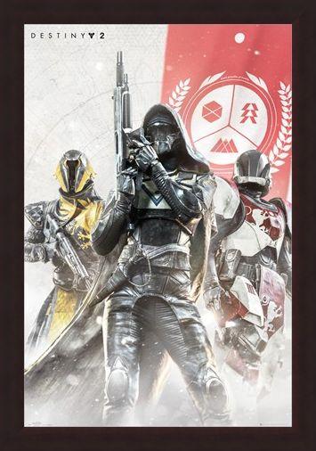 Framed Framed Hunter, Warlock and Titan - Destiny 2