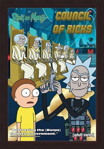 Framed Framed Council Of Ricks - Rick and Morty