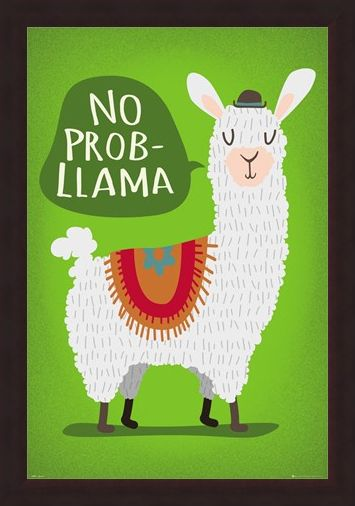 Framed Framed Llama No Probllama - Take It From Me