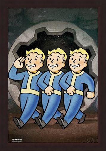 Framed Framed Vault Boys - Fallout 76