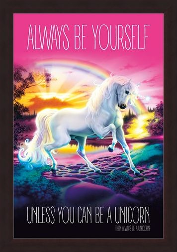 Framed Framed Always Be Yourself - Unicorn