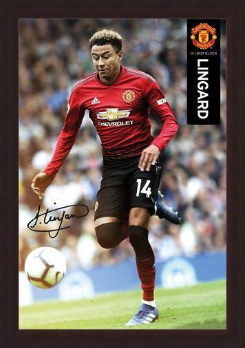 Framed Framed Lingard 18-19 - Manchester United