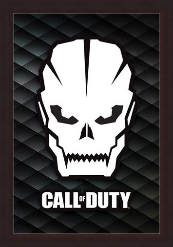 Framed Framed Skull - Call Of Duty