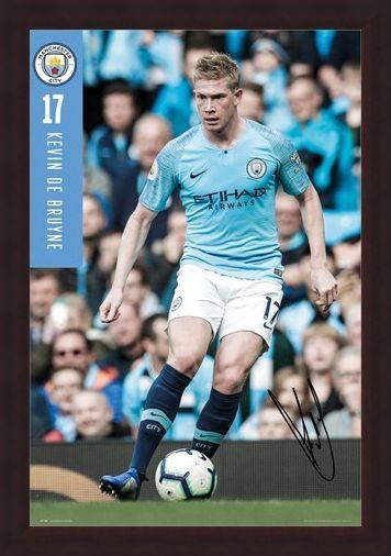 Framed Framed De Bruyne 18-19 - Manchester City