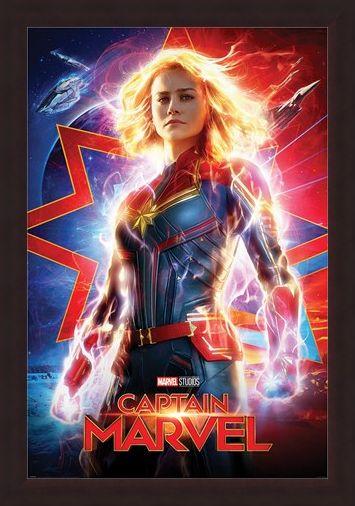 Framed Framed Higher, Further, Faster - Captain Marvel