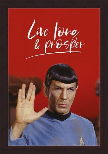 Framed Framed Live Long And Prosper - Star Trek