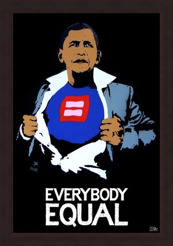 Framed Framed Everybody Equal - Obama