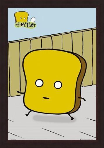 Framed Framed Mr Toast - Dan Goodsell