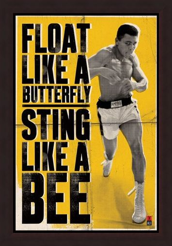 Framed Framed Float Like a Butterfly - Muhammad Ali