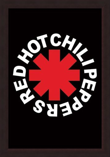 Framed Framed RHCP Logo - Red Hot Chilli Peppers