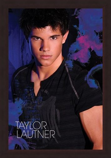 Framed Framed Brooding in Blue - Taylor Lautner