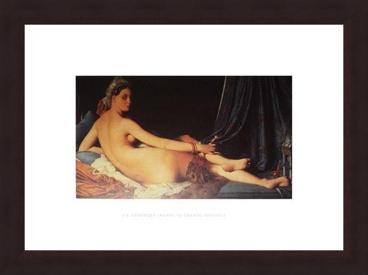Framed Framed La Grande Odalisca - J A Dominique Ingres