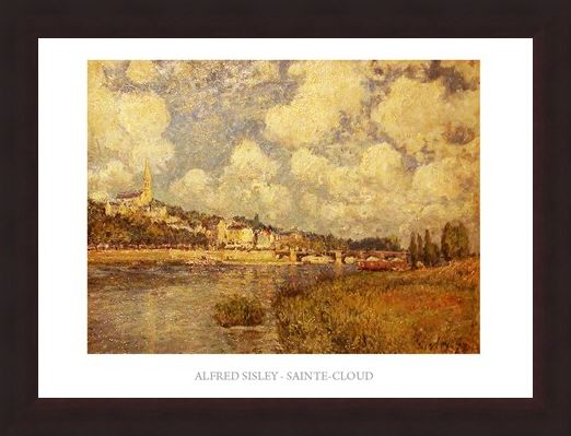Framed Framed Saint Cloud - Alfred Sisley