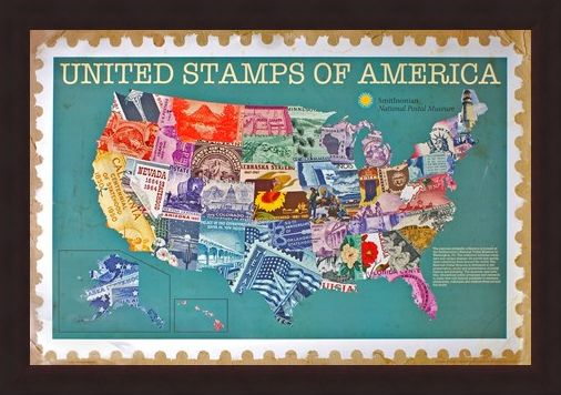 Framed Framed United Stamps Of America - The Smithsonian Institute