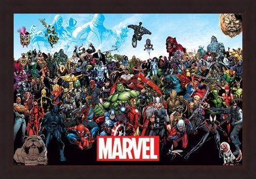 Framed Framed A Crazy World! - Marvel Universe