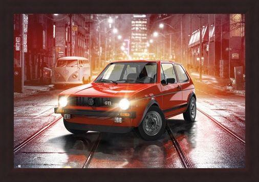 Framed Framed Iconic MK1 - VW Golf GTI
