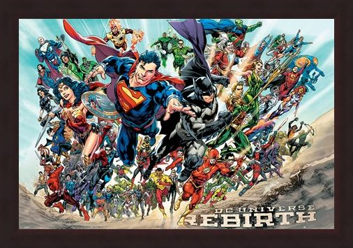 Framed Framed Justice League Rebirth - DC Comics