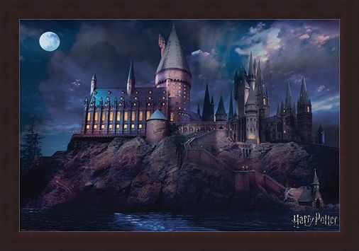 Framed Framed Hogwarts - Harry Potter
