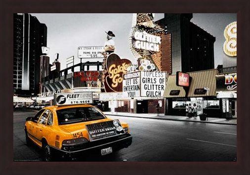 Framed Framed Glitter Gulch - Streets of Vegas