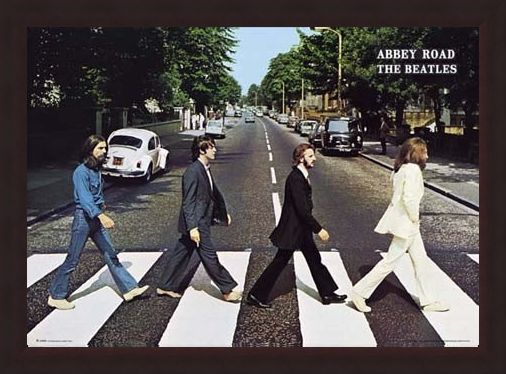 abbey road album cover the beatles poster buy online. Black Bedroom Furniture Sets. Home Design Ideas