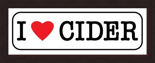 Framed Framed I Love Cider - Humorous Drinking Sign