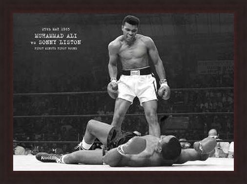 Framed Framed Muhammad Ali vs. Sonny Liston - Muhammad Ali