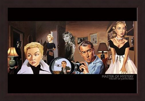 Framed Framed Master of Mystery (North by Northwest) - The Art of Justin Reed