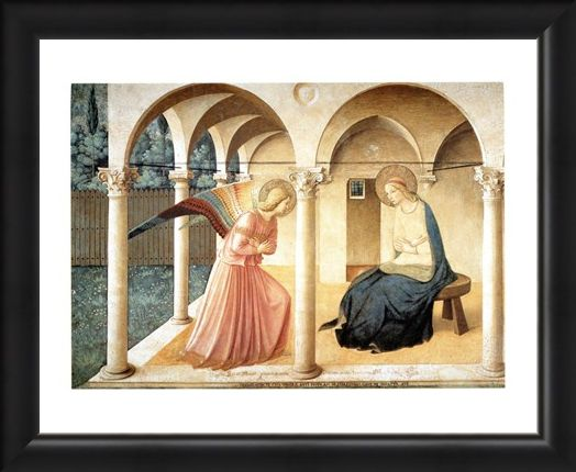 Framed Framed Annunciazione - Beato Angelico