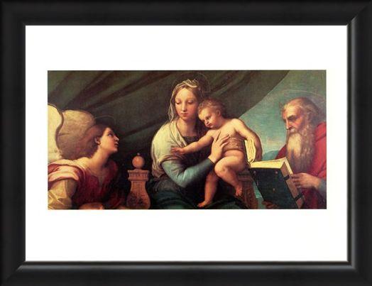 Framed Framed Madonna Del Pesce - Raffaello