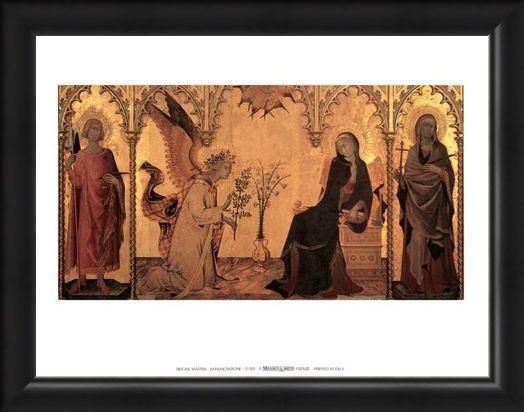Framed Framed Annunciazione - Simone Martini