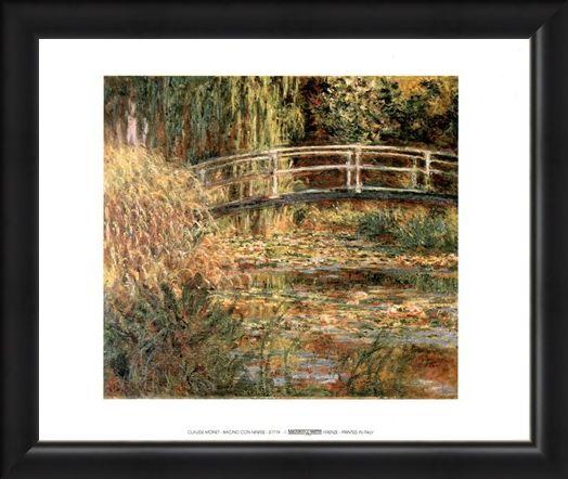 Framed Framed Bacino Con Ninfee - Claude Monet