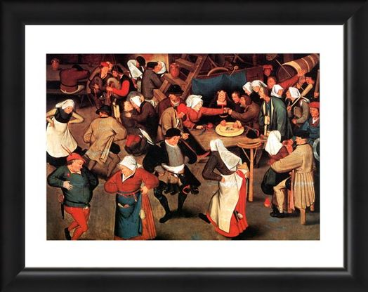 Framed Framed Nozze Di Contadini - Pieter Bruegel Il Vecchio