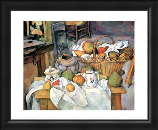 Framed Framed Natura Morta - Paul Cezanne