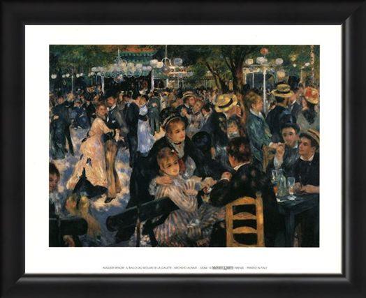 Framed Framed Il Ballo Del Moulin De La Galette - Auguste Renoir