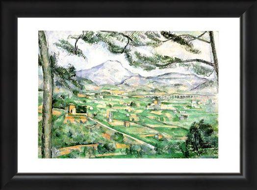 Framed Framed La Montagna Di Sainte-Victoire - Paul Cezanne