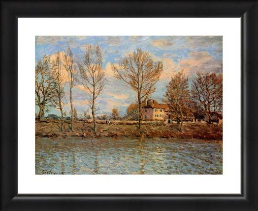 Framed Framed L'Ile De La Grand Jatte - Alfred Sisley
