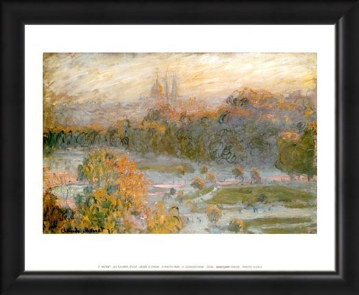 Framed Framed Les Tuileries, Etude - Claude Monet