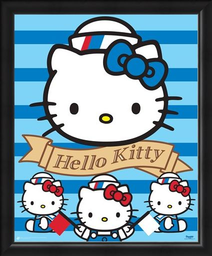 Framed Framed Ahoy There! - Hello Kitty