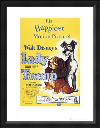 Framed Framed The Lady & The Tramp Original Movie Score - Walt Disney's Lady and The Tramp