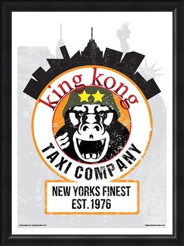 Framed Framed King Kong Taxi Company Mini Poster - Inspired By Taxi Driver