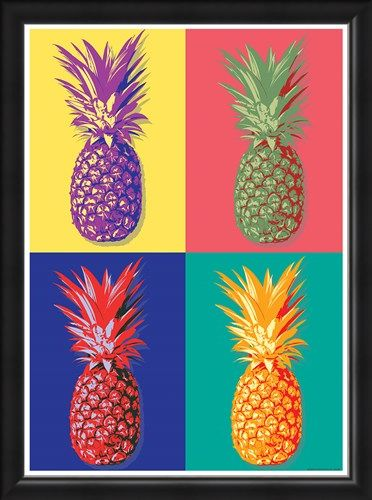 Framed Framed Taste of the Tropics - Pop Art Pineapple