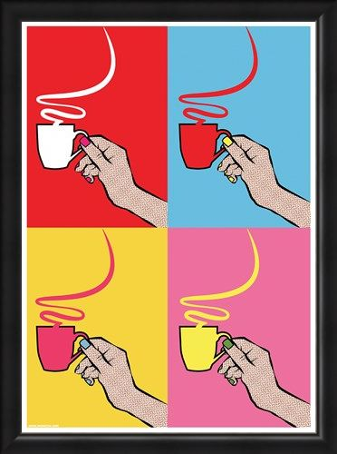Framed Framed How Many Sugars? - A Steamy Pop Art Brew