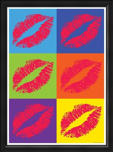 Framed Framed Lipstick - Pop Art