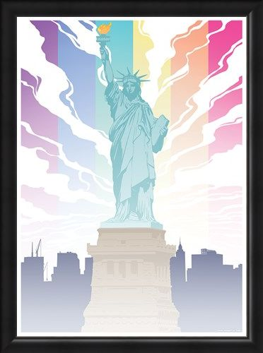 Framed Framed Lady Liberty - Pride